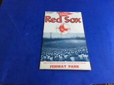 1966 BOSTON RED SOX OFFICIAL GAME PROGRAM VS BALTIMORE ORIOLES /YAZ / ROBINSONS