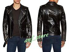 NWT BLK DNM Racer Leather Motorcycle Mens Jacket M MEDIUM Diesel All Saints