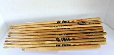 Lot of 11 Vic Firth 'Wooden Drumsticks.