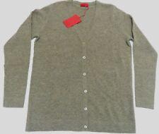 """PRINGLE Scotland LION Cashmere Wool blend V neck Cardigan L 38"""" Green Melange"""