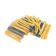 600Pcs 30 Values 1/4W 1% Metal Film Resistors Resistance Assortment Kit Set