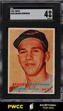 1957 Topps Brooks Robinson ROOKIE RC #328 SGC 4 VGEX (PWCC-E)