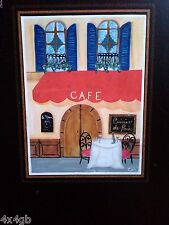 Handpainted French Cafe Hanging Chalkboard w/ Ciphering Art Chalk in Box