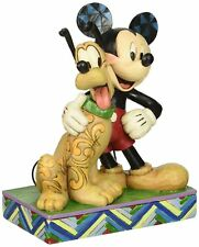 Disney Traditions by Jim Shore Mickey Mouse and Pluto Stone Resin Figurine, 6""