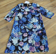 Regular Size Floral Shift Wear to Work Dresses for Women