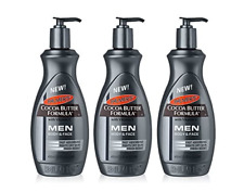 3X Palmers Cocoa Butter Formula Lotion Body & Face MEN Dry Skin 400ml Pump