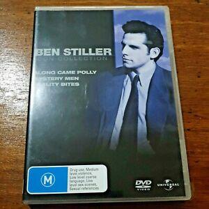 Ben Stiller Icon 3 DVD Along Came Polly/ Mystery Men/ Reality Bites LIKE NEW R4