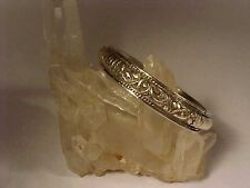 Antique Chinese Silver Paktong Bangle Bracelet Late Ming Dynasty 500 Year Old #F