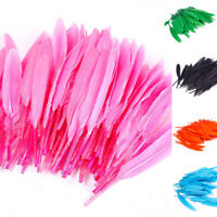 100pcs Beautiful Goose Feather 4-6 Inches 10-15 cm Colorful Hot Sale Fashion