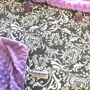 Car seat canopy purple/gray baby seat cover
