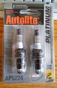 (2) Autolite AP5224 Platinum Spark Plugs