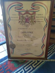 Neuweiler's Beer Luxembourg Diploma signed #2