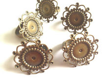 5 pcs bronze Filagree Ring base Finding fabrication de bijoux