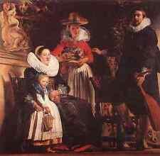 Jacob Jordaens The Family Of The Artist A3 Box Canvas