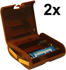 2x Batterie-Box: Akkus als 4,5V Flachbatterie,Adapter für 3x AA statt 3R12,3LR12