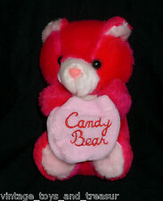 "7"" VINTAGE PINK CUDDLE WIT TEDDY BEAR CANDY POUCH STUFFED ANIMAL PLUSH TOY GIRL"