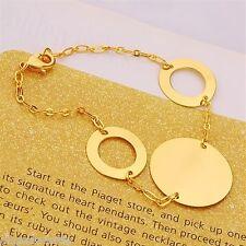 18K Yellow Gold Filled Charm  Bracelet (B-213)