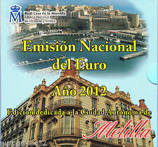 SPANJE - BU SET 2012 - MELILLA (10 MUNTEN + PENNING)