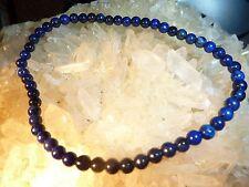 Bracelet extensible solide en  LAPIS LAZULI perles ronde 4mm Longueur 19cm