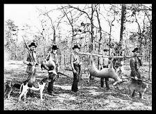 "Deer Hunting, Hounds Dogs, Pointers 14""x11"" Giclee print / photo 1922, rifle,gun"
