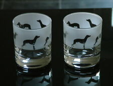 More details for whippet dog whisky glasses by glass in the forest.