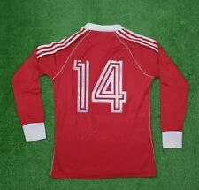 Vintage Adidas Football Jersey Red West Germany Soccer Trefoil Firebird Shirt M
