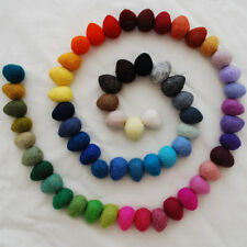 100% Wool Felt Ball Raindrops / Teardrops - 60 Count - Assorted Colours