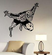 Spiderman Wall Sticker Comics Superhero Vinyl Decal Art Kids Room Decor spm4