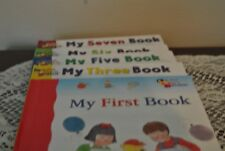Children's reading books by Scholastic the books have numbers in them