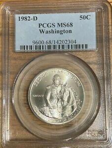1982-D George Washington Commemorative Half 50C PCGS MS68