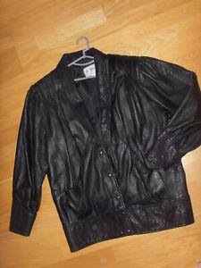 """de Ramer"" Exclusive Leather Design Jacket, Size14"