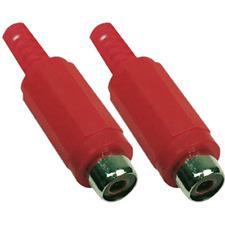 2 Fiches RCA Femelle Couleur Rouge Connections à Souder