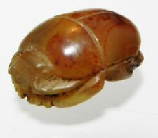 ZURQIEH -as12652- ANCIENT EGYPT, LARGE CARNELIAN BUTTON SCARAB. 1400 B.C
