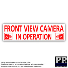 Cámara de vista frontal 1x en funcionamiento Pegatinas-Rojo/Blanco Cctv signos-van, taxi, coche, taxi