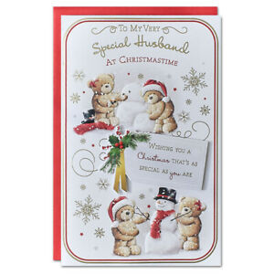 SPECIAL HUSBAND CHRISTMAS CARD ~ EXTRA LARGE 8 PAGE VERSE~QUALITY CARD