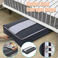 Large Capacity Under bed Storage Bed Bags Shoes Duvet Clothes Container NonWoven