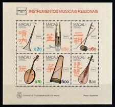 Macau 1986 postfrisch MiNr. Block 4 Musikinstrumente