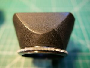 Ihagee unbranded Exakta 49mm screw in metal lens hood rectangular with lock ring