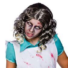 Zombie Creepy Spaventosa Halloween Parrucca FANCY DRESS Morto Fantasma Horror Monster Bride