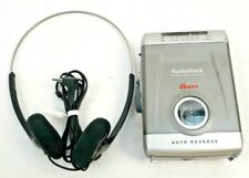 Radio Shack AM FM Cassette Player Auto Reverse Extended Bass System w/Headset