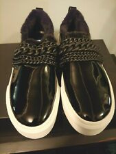 Kendall + Kylie size 8.5M kkTory black patent leather faux fur