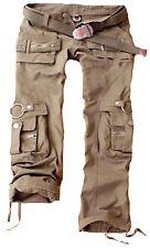 Juicy Trendz Womens Trousers Army Military Ladies Casual Cargo Pants Khaki XL