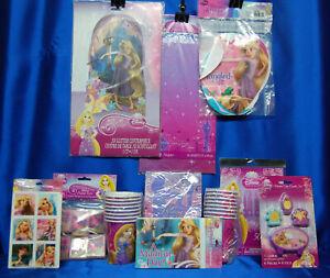 Tangled Party Set # 11 Rapunzel Princess Centerpiece Candle Tablecloth Banner
