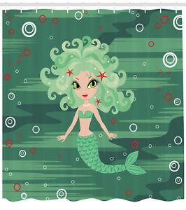 Nautical World Pattern Shower Curtain Fabric Decor Set with Hooks 4 Sizes