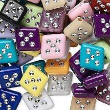 1298as Cuenta Mix, acrilico, multicolor, 13x12mm, diamante - 75g