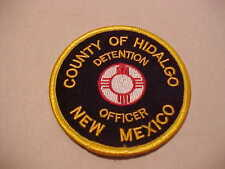 HIDALGO COUNTY NEW MEXICO CORRECTIONS POLICE PATCH 3 X 3 IN