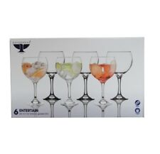 SET OF 6 x LARGE 65cl GIN BALLOON GLASSES COCKTAIL GLASS G&T DRINKING