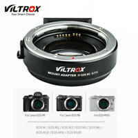 VILTROX EF-EOS M2 Camera Lens Adapter 0.71X for Canon EF to EOS-M w/ 2*Lens Cap