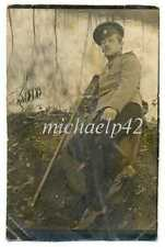 Russian WWI Cavalry Officer with St. George Order and Stick Photo