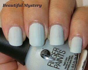 NEW FingerPaints Nail Polish BEAUTIFUL MYSTERY - Finger Paints Blue Gray Matte